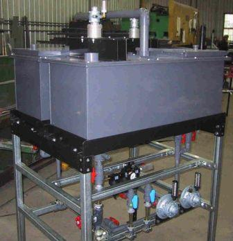 Solvent extraction pilot plant sized to treat 2 L/min.